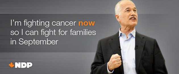 I'm fighting cancer now so I can fight for families in September.